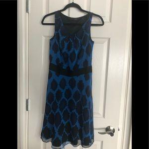 Blue and black chiffon like dress
